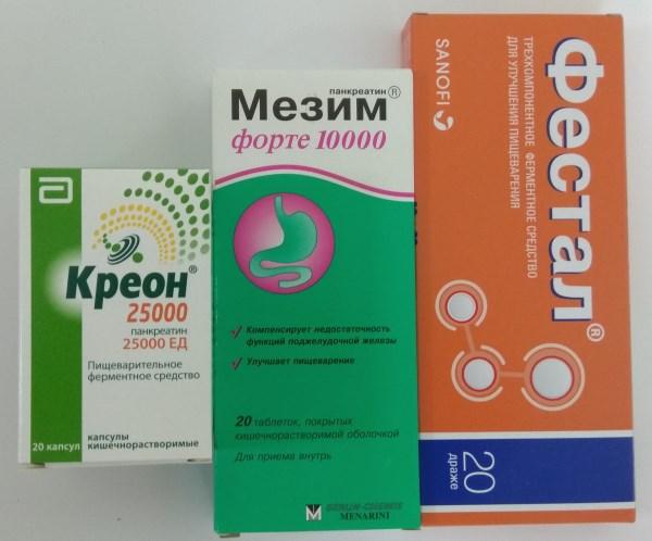 Лекарства содержащие ферменты