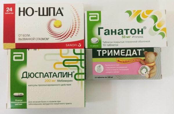 Спазмолитики от болей в желудке